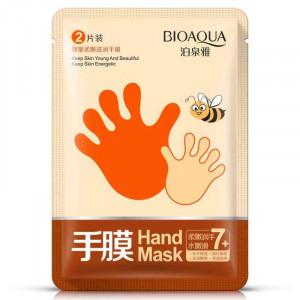 Маска перчатки для рук с медом BIOAQUA Hand Mask, 35 г Увлажняющая