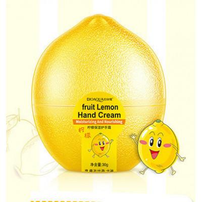 Крем  для рук лимон BIOAQUA Fruit Lemon Hand Cream, 30 г