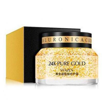 Крем-гель для лица питательный 24К Venzen Pure Gold, 50 г.  Глубокое восстановление