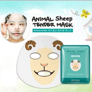 Маска для лица питательная тканевая с принтом ОВЕЧКА BIOAQUA Animal Sheep Nourish Mask .
