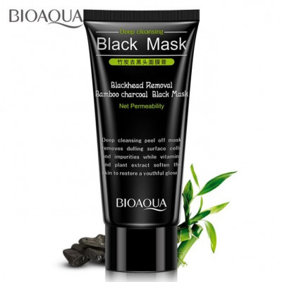 Маска-плёнка с бамбуковым углём BIOAQUA  Removal Bamboo Charcoal Black Mask, 60 г
