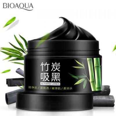 Маска очищающая с бамбуковым углем BIOAQUA Bamboo Charcoal Translucent Washing Mask, 140 г