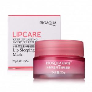 Маска для губ с клубникой BIOAQUA Lipcare lip sleeping mask, 20 г Ночная