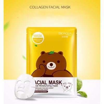 Маска освежающая для кожи с зеленым чаем BIOAQUA Green Tea Facial Mask, 30 г