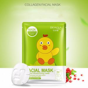 Маска восстанавливающая с коллагеном и экстрактом граната BIOAQUA Pomegranate Facial Mask, 30 г