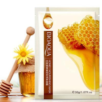 Маска для лица тканевая питательная с экстрактом меда BIOAQUA Honey Nourishing Mask, 30 г