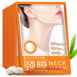Маска для области шеи на основе гиалуроновой кислоты и муцином улитки BIOAQUA Neck Mask, 30 г
