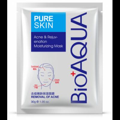 Маска тканевая для проблемной кожи лица BIOAQUA Pure Skin Removal Of Acne Mask, 30 г