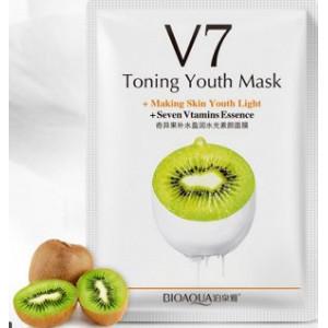 Маска восстанавливающая с экстрактом киви BIOAQUA V7 Toning Youth Mask, 30 г