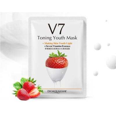 Маска питательная с экстрактом клубники BIOAQUA V7 Toning Youth Mask, 30 г