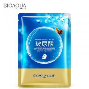 Маска с муцином улитки и гиалуроновой кислотой BIOAQUA Hyaluronic Acid, 25 г