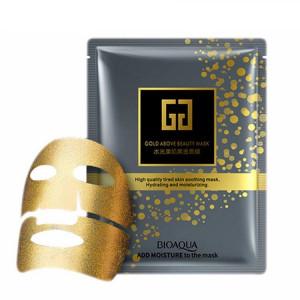 Маска для лица тканевая с коллоидным золотом и гиалуроновой кислотой BIOAQUA 30 г
