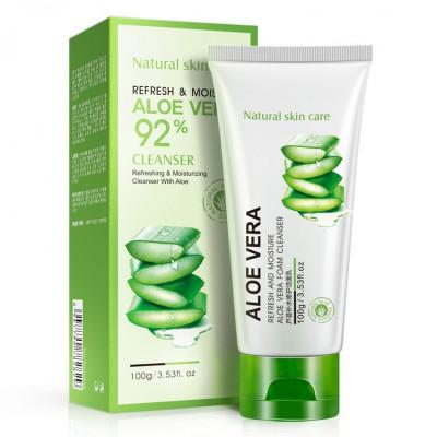 Пенка для умывания и очищения лица BIOAQUA  Aloe Vera 92 %, 100 мл