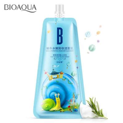 Пенка для снятия макияжа с муцином улитки BIOAQUA Snail Remover Cleanser, 100 г