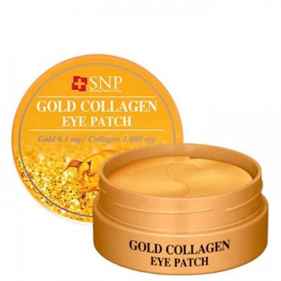 Патчи гидрогелевые с коллагеном и частицами золота SNP Gold Collagen Eye Patch, 60 шт. Южная Корея