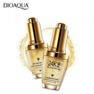 Сыворотка с гиалуроновой кислотой и золотом BIOAQUA 24K Gold Skin Care, 30 мл