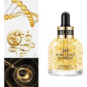 Эссенция для глаз с частицами золота и пептидами VENZEN Pure Gold 24K, 30 мл. Омолаживающая