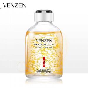 Тонер-сыворотка для лица с коллоидным золотом VENZEN 24K Gold Luxury Line Carving Toner, 50 мл