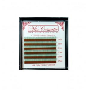 Ресницы для наращивания MixCosmetic C 0,07 MIX 6 линий B-Green