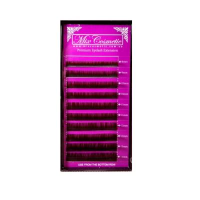 Ресницы MixCosmetic Темно-Коричневые D 0,15 MIX (10 линий: 8-14 мм)