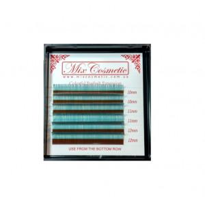 Ресницы MixCosmetic O-Blue C 0,07 MIX (6 линий: 10-12 мм)