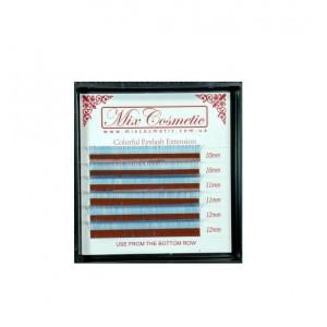 Ресницы MixCosmetic S-Blue C 0,07 MIX (6 линий: 10-12 мм)