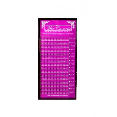 Ресницы MixCosmetic 5D Pandora C 0,07 (16 линий 10-12-14 мм в одном пучке)