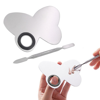 Палитра для смешивания текстур (маленькая) бабочка + шапатель