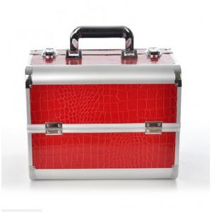 Бьюти кейс для мастеров индустрии красоты , красный