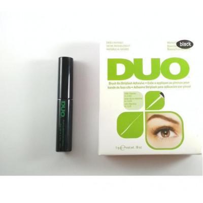 Клей для накладных ресниц с витаминами черный DUO Clear Brush On Adhesive, c кистью 5g.