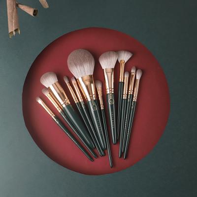 Набор профессиональных кистей для макияжа из кукурузного волокна CHICHODO 12 шт.
