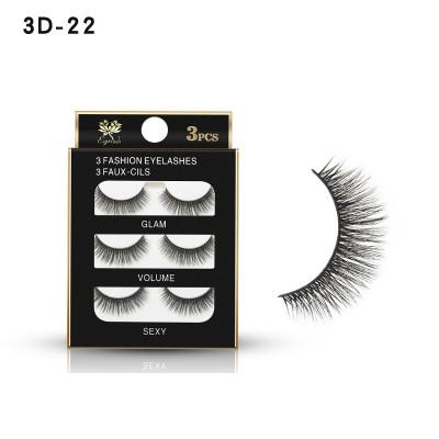 Накладные ресницы GLAM VOLUME SEXY 3 пары 3D-02