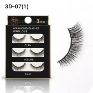 Накладные ресницы GLAM VOLUME SEXY 3 пары 3D-07(1)