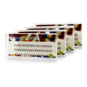 Ресницы цветные в пучках ZHONGJIEZHE длина 10 мм