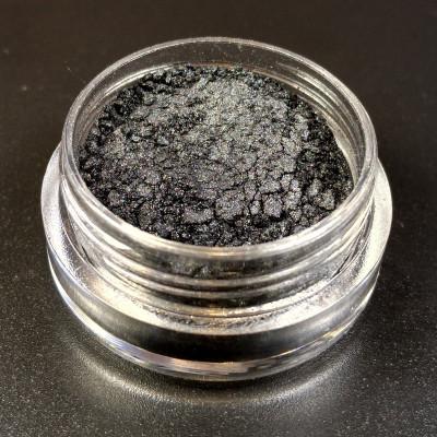 """Пигмент """"Черная роза"""" MixCosmetic черный сатин 6091."""