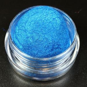 """Тени Пигмент для макияжа глаз """"Агератум"""" MixCosmetic радужный синий сатин 6046"""