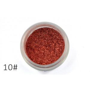 Слюда для макияжа глаз и тела Alpha бордовое золото №10