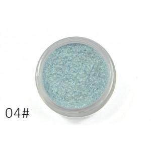 Слюда для макияжа глаз и тела Alpha голубая с синим блеском №4
