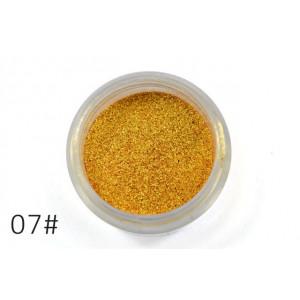 Слюда для макияжа глаз и тела Alpha насыщенное золото №7
