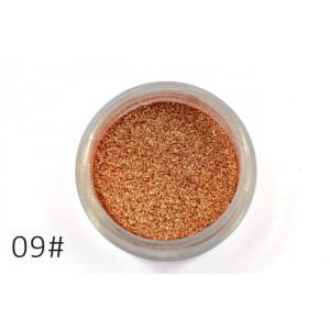 Слюда для макияжа глаз и тела Alpha медное золото №9