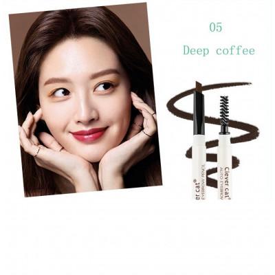 Пудровый Карандаш для бровей CLEVER CAT Deep Coffee 05