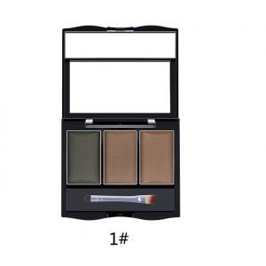 Тени для бровей 3 цвета LIDEAL Shiny Eyebrow №1