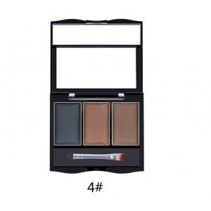 Тени для бровей 3 цвета LIDEAL Shiny Eyebrow №4