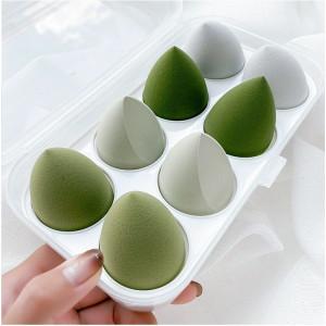 Набор cпонжей 8 шт оттенки Зеленого