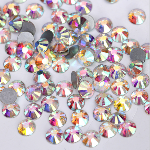 Стразы для декора цвет Crystal AB размер 1,3-1,4 мм  SS3 100 шт.