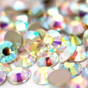 Стразы для декора цвет Crystal AB размер 1,5-1,6 мм  SS4 100 шт.