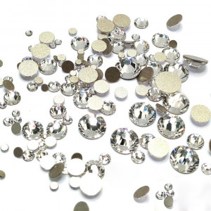 Стразы для декора Mix размеров, кристалы 100 шт.