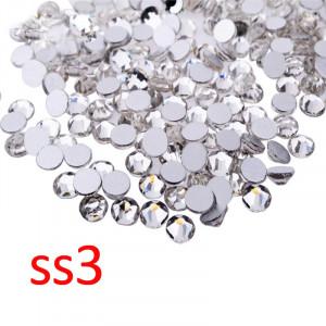 Стразы для декора цвет Crystal размер 1,3-1,4 мм  SS3 100 шт.