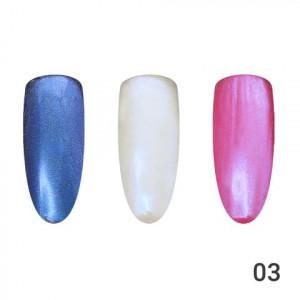 Жемчужная втирка для ногтей Global Fashion 03