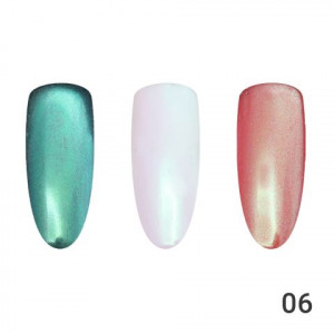 Жемчужная втирка для ногтей Global Fashion 06